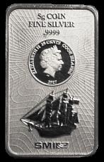 5 Gramm  Cook Islands 2017 - Münzbarren  (Silber  999.9) - Neues Design