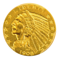 5 Dollars USA - Indianer 1908 (PCGS MS62)