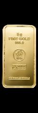 5 Gramm Goldbarren (Heimerle + Meule, Pforzheim)