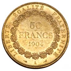 Frankreich - 50 Francs - Genius 1904 (vz)