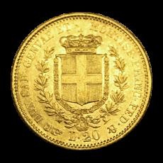 Italien (Sardinien) - 20 Lire - Vittorio Emanuelle II - 1851 B
