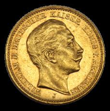 J 252 - 20 Mark Preußen - Wilhelm II - 1909 (J)