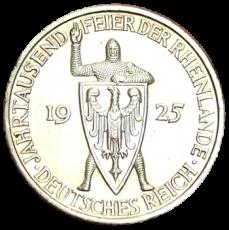 J 322 - 5 RM - Jahrtausendfeier der Rheinlande 1925 - A (vz)