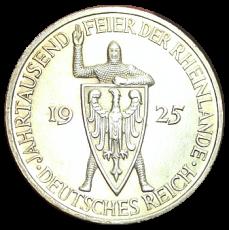 J 322 - 5 RM - Jahrtausendfeier der Rheinlande 1925 - E (ss-vz)