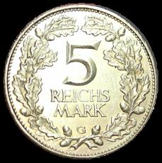 J 322 - 5 RM - Jahrtausendfeier der Rheinlande 1925 - G (ss-vz)