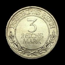 J 323 - 3 RM - 700 J. Reichsfreiheit Lübeck 1926 - A (vz)