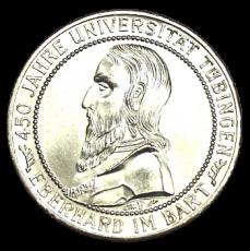 J 329 - 5 RM - 450 Jahre Uni Tübingen 1927 - F (prfr.)