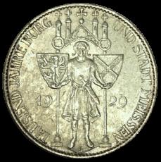 J 339 - 5 RM - 1000 Jahre Meißen 1929 - E (ss-vz)