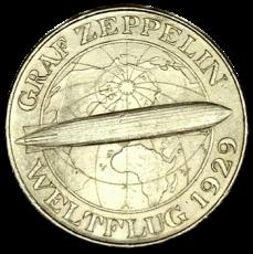 J 343 - 5 RM - Graf Zeppelin 1930 - A (vz)