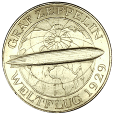 J 343 - 5 RM - Graf Zeppelin 1930 - F (vz-prfr.)