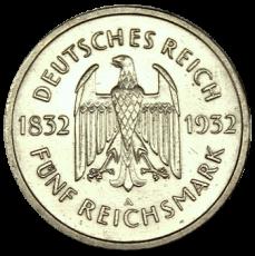 J 351 - 5 RM - Goethe 1932 - A (vz)