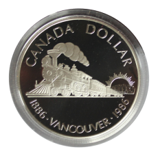 1 Dollar 1986 (Proof)  -  Lokomotive Vancouver