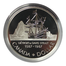 1 Dollar 1987 (Proof)  -  Detroit - Davis Strait