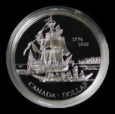 1 Dollar 1999 (Proof)  -  225 Jahre der Entdeckung von Queen Charlotte Islands