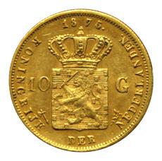Niederlande - 10 Gulden - Wilhelm III (1875)