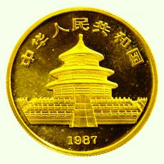 1/10 Oz. China - Panda 1987