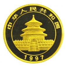 1/10 Oz. China - Panda 1997 (large Date)