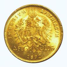 Österreich - 4 Florin - 1892 (Nachprägung)