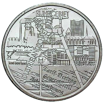 Brd Gedenkmünze 10 Euro Industrielandschaft Ruhrgebiet 2003