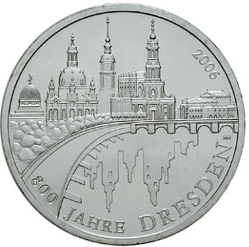 Brd Gedenkmünze Brd Gedenkmünze 10 Euro 800 Jahre Dresden 2006