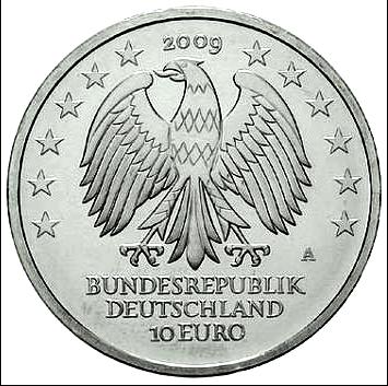 Brd Gedenkmünze 10 Euro 600 Jahre Universität Leipzig 2009