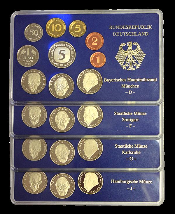 Kms 1990 Pp Dfgj Komplett Münzhandel Thomas Göbel Ek
