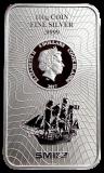 100 Gramm  Cook Islands 2017 - Münzbarren  (Silber  999.9) - Neues Design