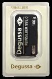 100 Gramm  Silberbarren (Degussa)