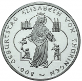10 Euro - 800. Geburtstag Elisabeth v. Thüringen (2007)