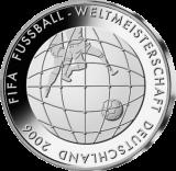 10 Euro - Fußball-Ball im Netz (2005 - Spgl.)