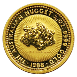 1/10 Oz. Australien - Nugget/Känguru 1988