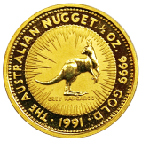 1/10 Oz. Australien - Nugget/Känguru 1991