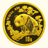 1/10 Oz. China - Panda 1997 (large Date)