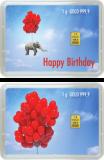 1 Gramm Goldbarren - Happy Birthday - (Flip)