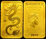 1 Unze Goldbarren (Perth Mint) - Drache 2018