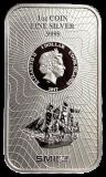1 Unze  Cook Islands 2017 - Münzbarren  (Silber  999.9) - Neues Design
