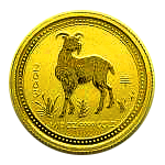 1/20 Oz. Australien - Ziege 2003 (Lunar I)