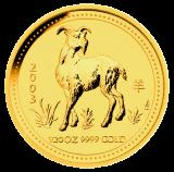 10 x 1/20 Oz. Australien - Ziege 2003 (Lunar I)