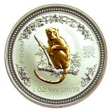 1 Oz. Australien - Affe 2004 (Lunar - gilded)