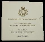 San Marino - 2 Scudi 2005 - 100° Anniversario ROTARY INTERNATIONAL