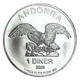 1 Oz. Andorra - Eagle 2008