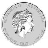 1 Oz. Australien - Drache 2012 - gilded (Lunar II)