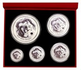 0,50 Oz. - 10 Oz. Australien - Drache 2012 (Lunar II) in Box