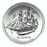 1/10 Oz. Cook Islands - Bounty 2012