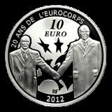 10 Euro Frankreich - 20 Jahre Eurocorps 2012