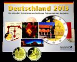 KMS 2013 A,D,F,G,J - komplett (incl. 2 Euro Sondermünze +  Briefmarken)