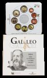 "Italien - KMS 2014 + 2 Euro Sondermünze ""Galileo Galilei"""