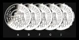 5 x 25 Euro BRD - 25 Jahre Dt. Einheit - 2015 - A,D,F,G,J