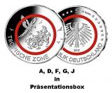5 x 5 Euro BRD - Tropische Zone - 2017  -  A,D,F,G,J (Spgl.)