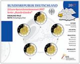 2 Euro Münzenset 2017 - Rheinland-Pfalz